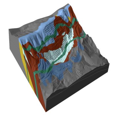 中仿Rocscience系列Slide3软件对露天煤矿坑(Open Pit Mine in Minas Gerais, Brazil)的三维边坡稳定性分析